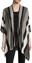Neiman Marcus Variegated Striped Open Cardigan, Multi