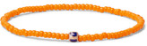 Luis Morais Glass Bead Enamelled Gold Bracelet - Orange