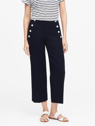 Banana Republic Petite Slim Wide-Leg Cropped Sailor Pant