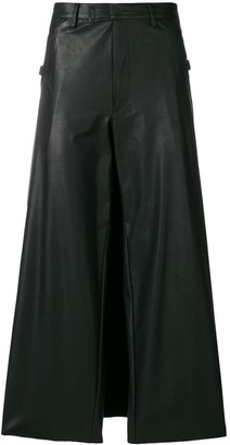 Jean Paul Gaultier Pre Owned Faux Leather Wide-Leg Trousers