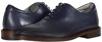 Canali Printed Calfskin Oxford (Blue) Men's Shoes