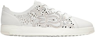 Cole Haan GrandPro Laser-Cut Leather Tennis Sneakers