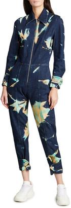 Stella McCartney Printed Zip-Front Jumpsuit