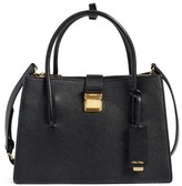 Miu Miu 'Small Madras' Goatskin Leather Satchel - Black