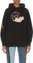 Aries Liberace embroidered cotton-jersey hoody