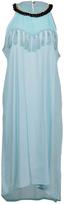 Aqua Tassel-Embellished Maxi Dress