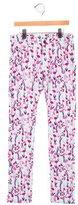 Oscar de la Renta Girls' Floral Print Corduroy Pants w/ Tags