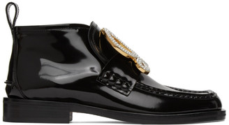 Loewe Black Patent Calfskin High-Top Loafers
