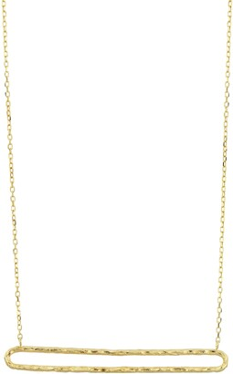 Bony Levy 14K Gold Textured Open Bar Necklace