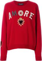 Dolce & Gabbana Amore appliqué sweater