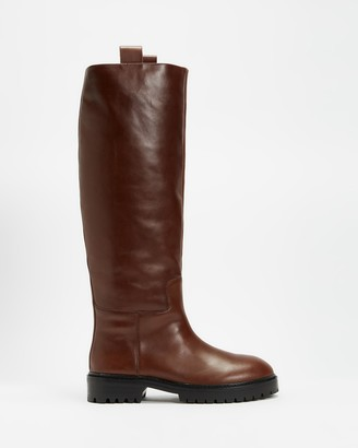 Mae Women's Brown Knee-High Boots - Maine - Size 39 at The Iconic