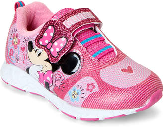 Minnie Mouse (Toddler Girls) Fuchsia Character Light-Up Sneakers