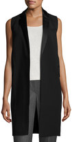 Lafayette 148 New York Edie Long Vest, Black