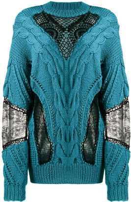 Almaz Lace Panel Cable Knit Jumper