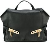 Anthony Vaccarello top handle backpack - women - Calf Leather - One Size