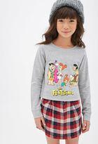 Forever 21 Girls Boxy Flintstones Raglan Sweatshirt (Kids)