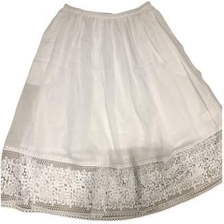Charo Ruiz Ibiza White Cotton Skirt for Women