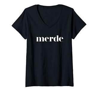 Womens Merde - Ballet Dance Team Saying V-Neck T-Shirt