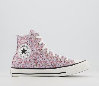 Converse All Star Hi Trainers Vintage White Pink Foam Vintage Floral