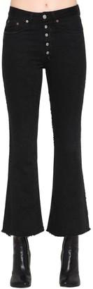 MM6 MAISON MARGIELA Brushed Distressed Flared Denim Jeans