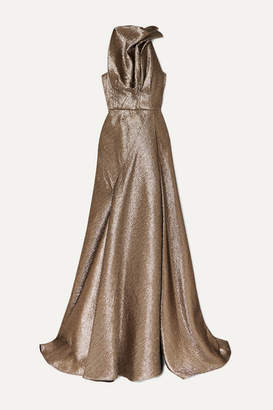 Maticevski Gathered Lurex Gown - Gold