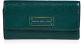 Marc by Marc Jacobs Leather Original Long Trifold Wallet in Teal Goblet