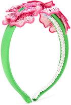 Mi Mi Sol - floral embellished head band - kids - Silk/Polyester - One Size