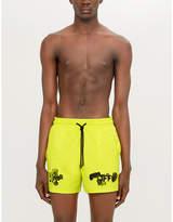 Off-White C/O Virgil Abloh Off-White x Vilebrequin logo-print swim shorts