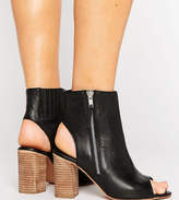 Asos Earnest Wide Fit Leather High Ankle Boots