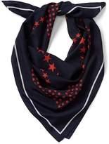 Gap Star silk square scarf