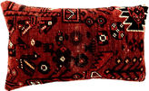 One Kings Lane Vintage Antique Tribal Qashqai Lumbar Pillow