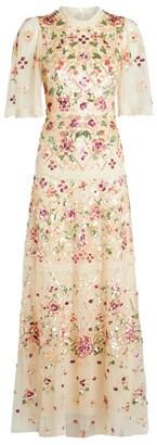 Needle & Thread Embellished Trellis Rose Gown