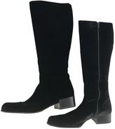 Prada Black Velvet Boots