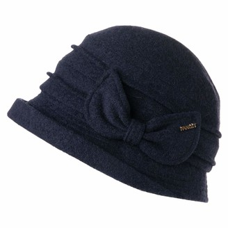 Fancet Ladies Classic 1920s Vintage Cloche Bucket Soft Felt Fedora Bowler Derby Designer Spring Winter Fashion Countries Hat Grey 56-59CM