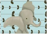 Oopsy Daisy Fine Art For Kids Edison the Elephant Canvas Wall Art in Blue