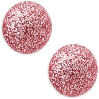 Ava & Aiden Glitter Acrylic Domed Disc Earrings