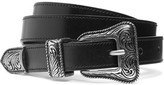 Saint Laurent Leather Belt - Black