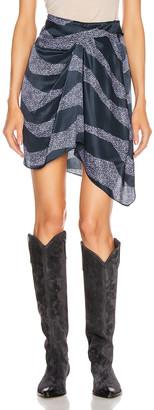 Isabel Marant Rosana Skirt in Midnight   FWRD