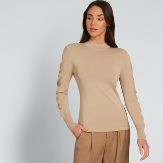 Seed Heritage Crepe Roll Neck Knit