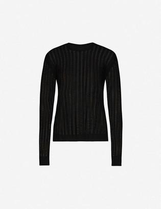 UMA WANG Round neck wool, cashmere and silk-blend jumper