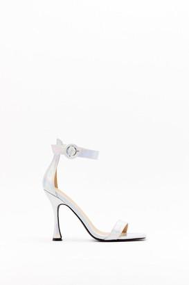 Nasty Gal Womens Standing on Higher Ground Metallic Stiletto Heels - grey - 3