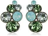 Konplott 5450543302621 Petit Glamour Women's Stud Earrings Brass / Green Glass