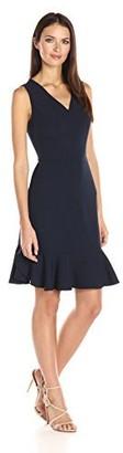 Nanette Lepore Women's Sleeveless Dress with Flounce Hem
