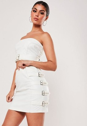 Missguided Co Ord Faux Leather Buckle Mini Skirt