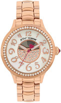 Betsey Johnson Women's Rose Gold-Tone Bracelet Watch 36mm BJ00537-03