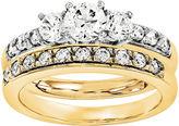 MODERN BRIDE 1/2 CT. T.W Diamond 14K Two-Tone Bridal Set