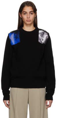 Raf Simons Black Knit Patches Sweater