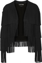 Tom Ford Fringed stretch-cady jacket