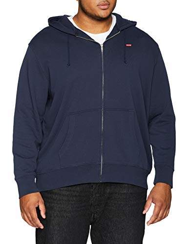 Levi's Big and Tall Men's Classic Hm Zip Up Big Plain Regular Fit Long Sleeve Hoodie,4X-Large
