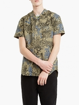 Comme Des Garcons Shirt Khaki Cartoon Print Short-sleeved Shirt